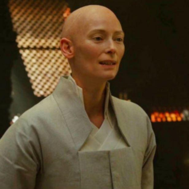 Tilda Swinton portrayed the character of Ancient One in the Marvel Cinematic Universe