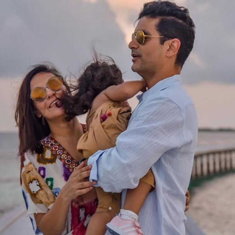 Angad Bedi & Neha pen heartfelt messages for daughter Mehr on her birthday; Share beautiful pics with the baby