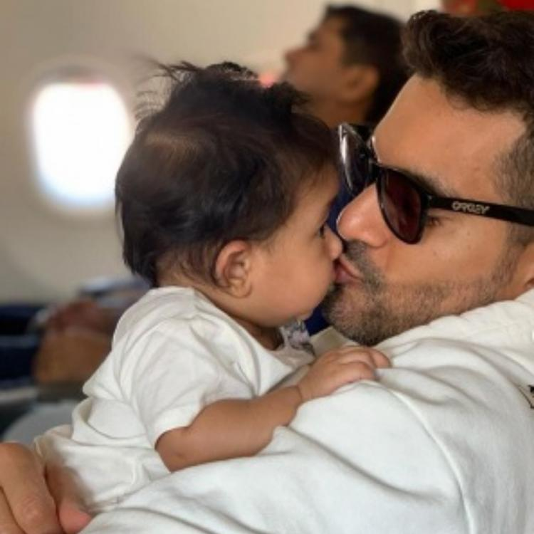 Angad Bedi share father-daughter moments on Insta
