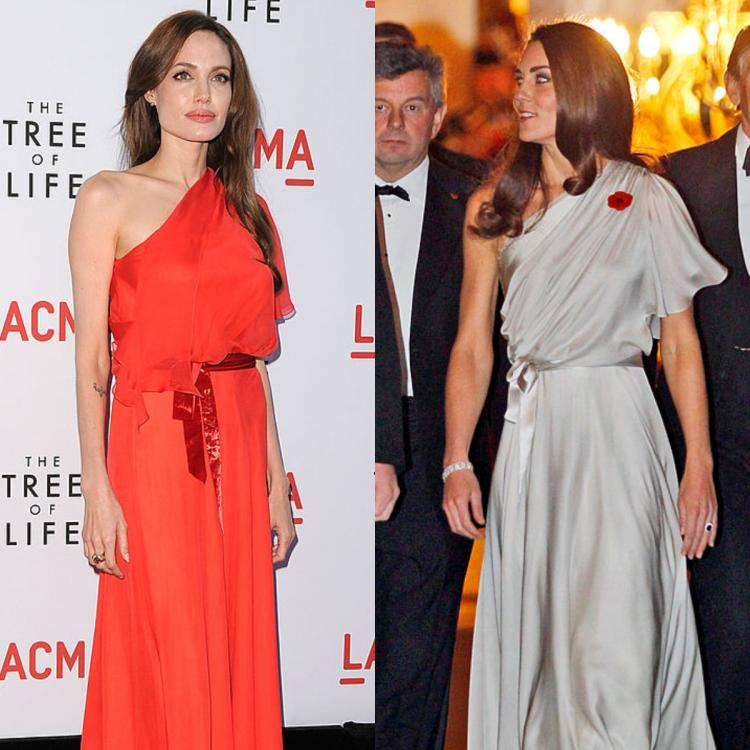 Fashion Faceoff: Angelina Jolie or Kate Middleton: Who wore the one shoulder Jenny Packham dress better?