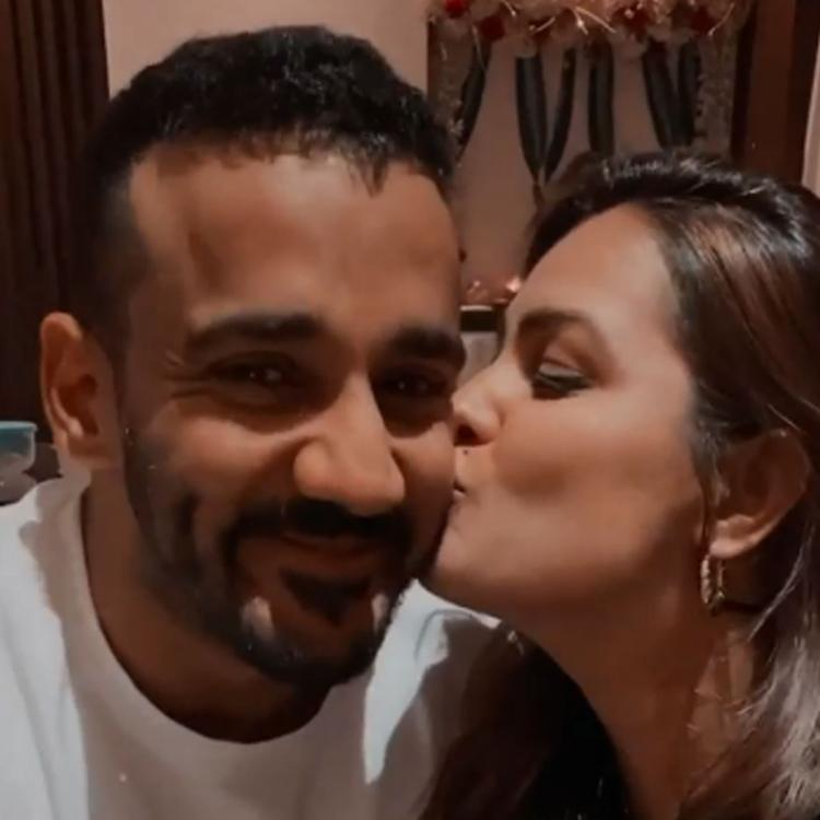 Anita Hassanandani rings her 40th birthday with husband Rohit Reddy and it's all about love, smiles, kisses