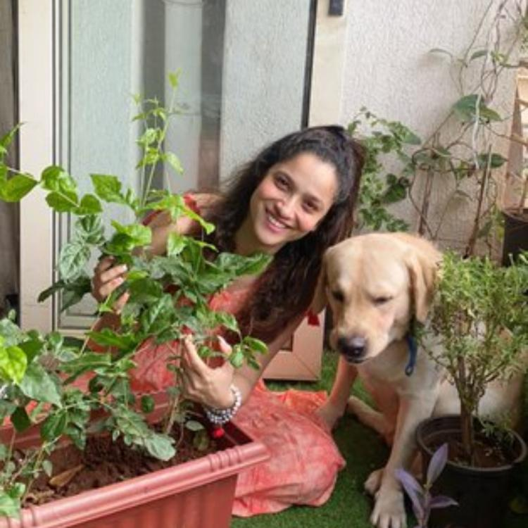 Ankita Lokhande fulfills Sushant Singh Rajput's dream as she plants saplings to join the #Plants4SSR campaign