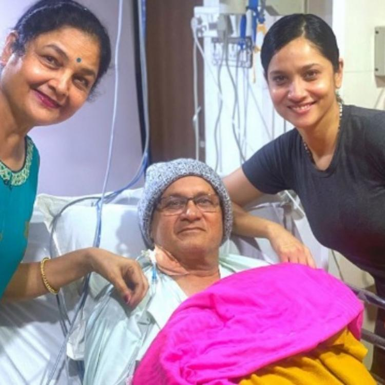 Ankita Lokhande shares a new pic with her parents.