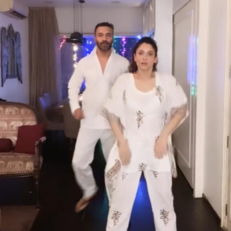 Ankita Lokhande & Vicky Jain twin in white as they dance to Katrina Kaif & Hrithik Roshan's song; WATCH Video