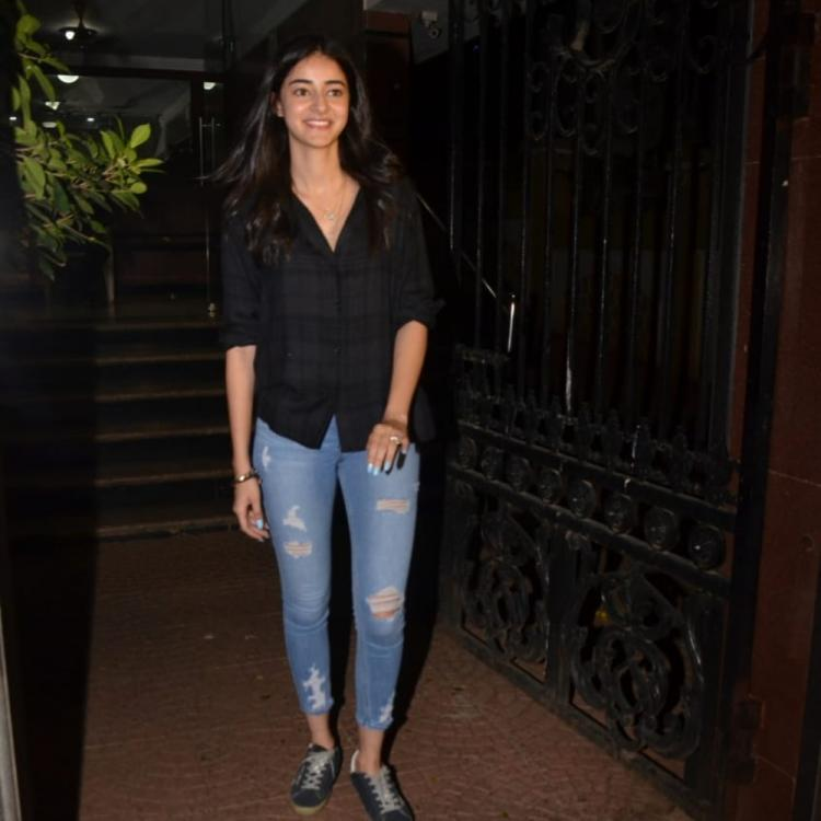 PHOTOS: Ananya Panday keeps it simple and casual as she visits a friend's home in the city