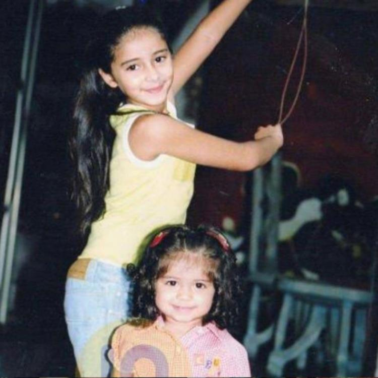 Ananya Panday & sister Rysa look super cute in THIS childhood PIC; check it out