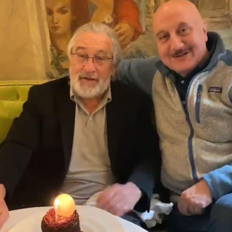 Anupam Kher celebrates his birthday with 'God of Acting' Robert De Niro; Says 'Nothing can be more magical'