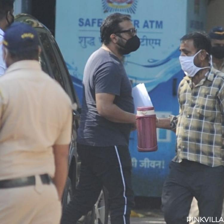 Anurag Kashyap at the police station in connection with Payal Ghosh's accusations