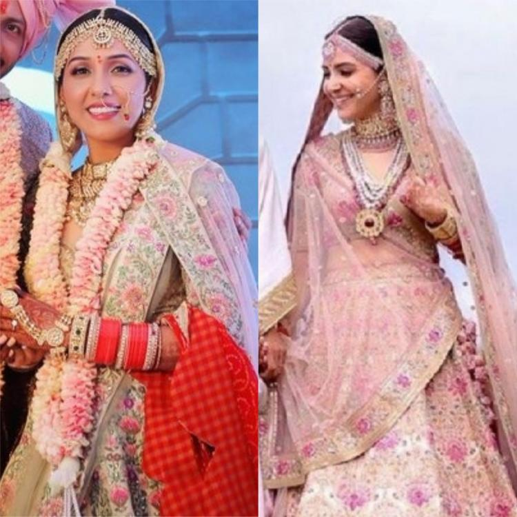 Neeti Mohan's wedding outfit shares an uncanny resemblance with that of Anushka Sharma's