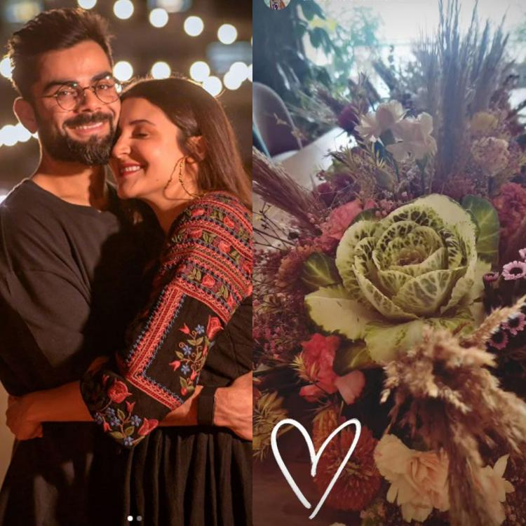 Mom to be Anushka Sharma begins 2021 on a flowery note with Virat Kohli; Extends New Year wishes to her fans