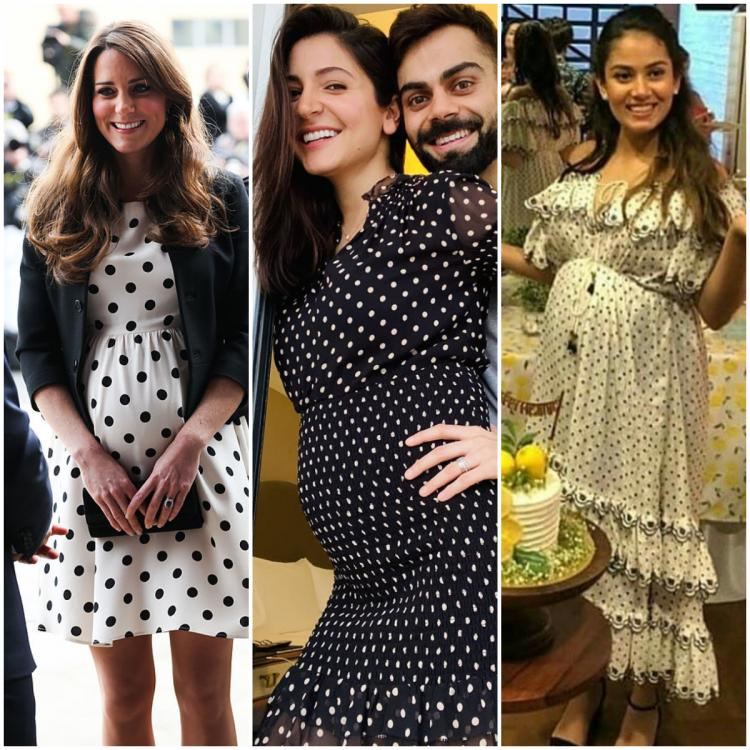 Anushka Sharma to Mira Rajput, Kate Middleton: Celebs who showed off their baby bump in polka dot outfits