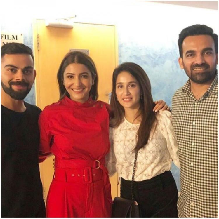 Anushka Sharma, Virat Kohli, Sagarika Ghatge & Zaheer Khan are the perfect chill squad in a throwback photo