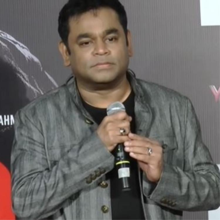 AR Rahman sends audience on a laugh riot at an event by pulling anchor's legs for speaking Hindi; WATCH