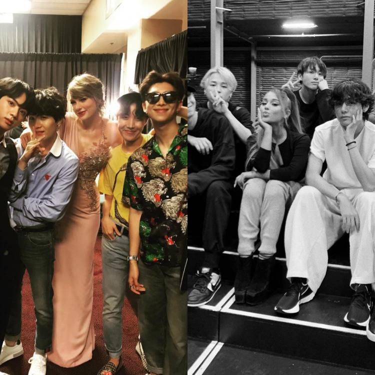 VOTE: BTS x Taylor Swift or Bangtan Boys x Ariana Grande, which artist you wish the K Pop band collabs with?