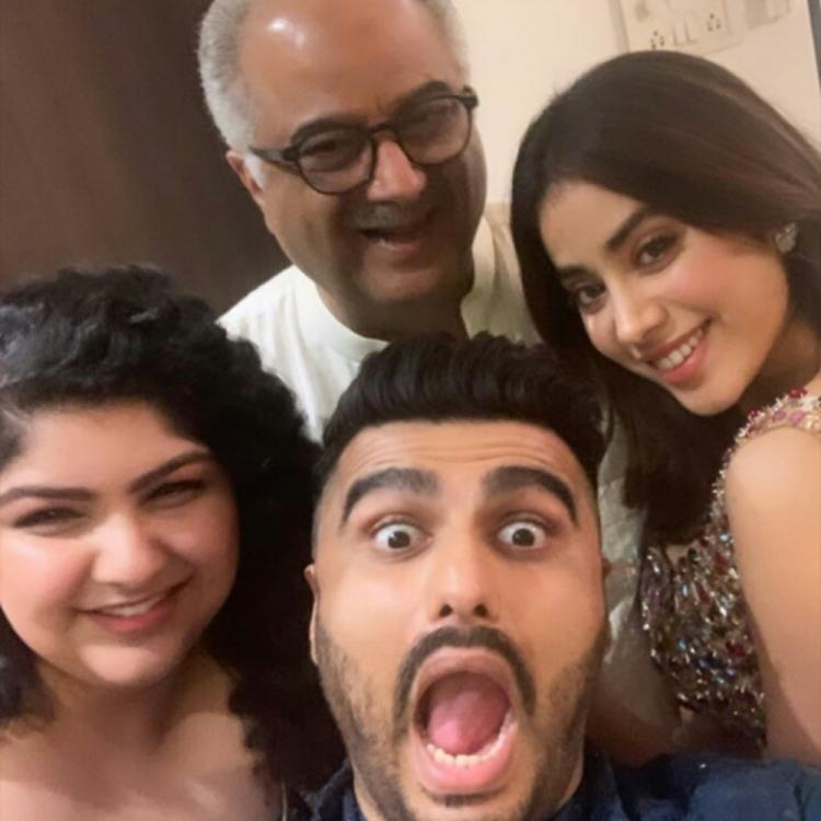 Janhvi Kapoor, Arjun Kapoor, Anshula's selfie with & dad Boney Kapoor is cute but we're missing Khushi Kapoor