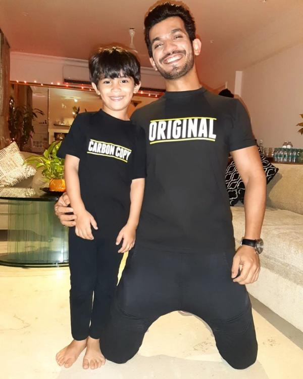Arjun Bijlani twinning with his son Ayaan on his birthday is the cutest thing you will see on the internet
