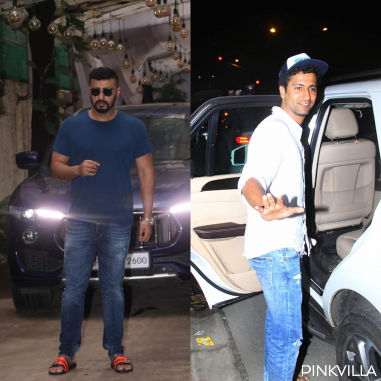 PHOTOS: Arjun Kapoor looks suave in casuals; Vicky Kaushal snapped while arriving at Shoojit Sircar's office