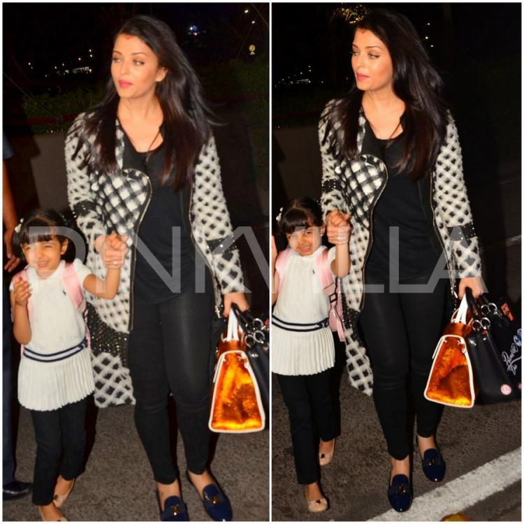 Aishwarya reaches Cannes with beti Aaradhya and mom