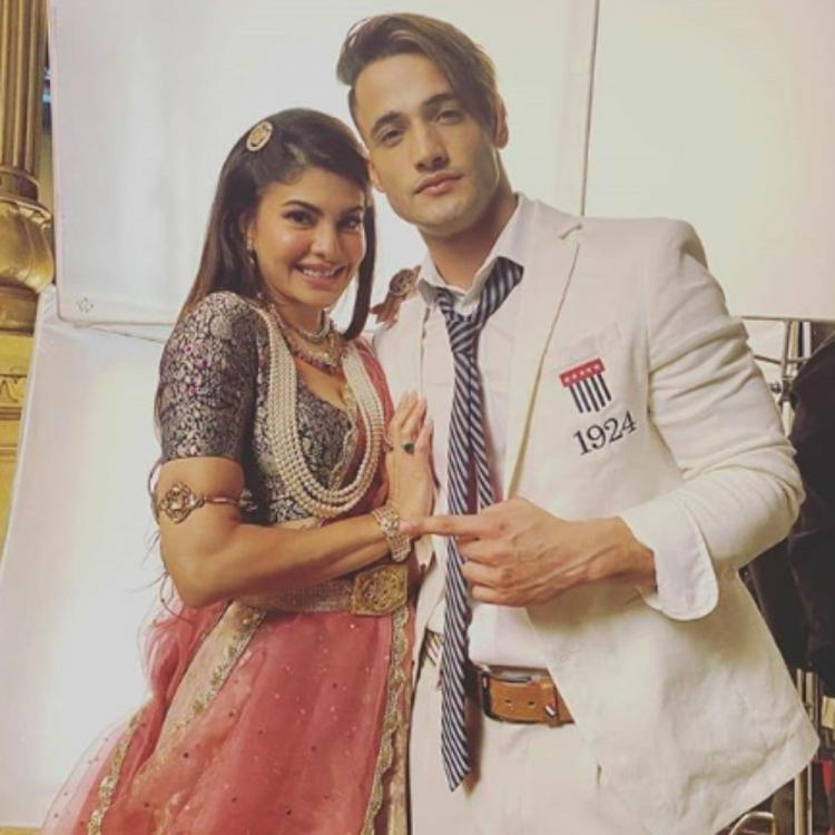 PHOTOS: Jacqueline Fernandez and Asim Riaz make for a perfect pair at the sets of their music video