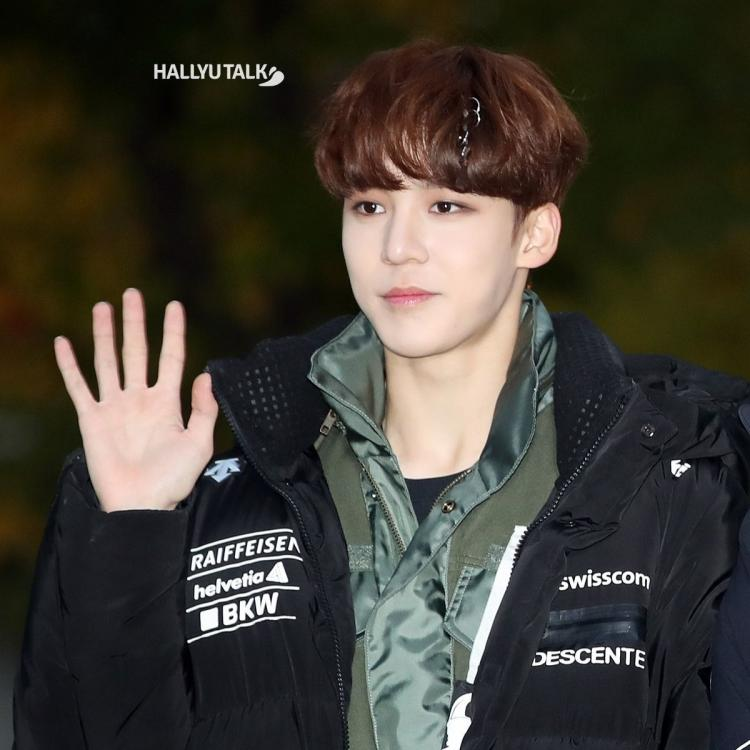 ATEEZ Yunho is attending a rehearsal for KBS2's 'Music Bank'.