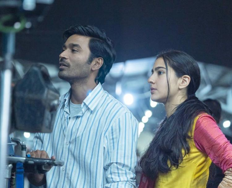 Atrangi Re: Sara Ali Khan & Dhanush's BTS pic from the sets will make you eager to see them together on screen