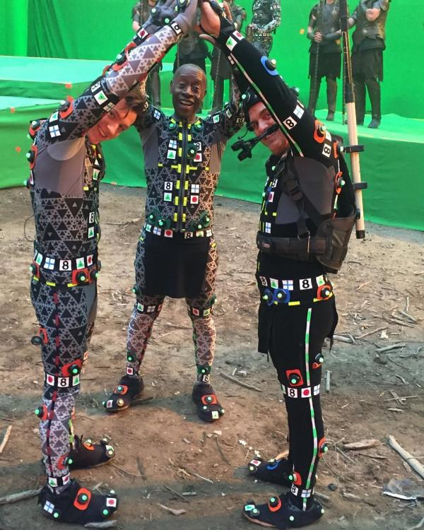 Avengers: Endgame BTS shots of Mark Ruffalo, Tom Holland & Don Cheadle in motion capture suits is unmissable