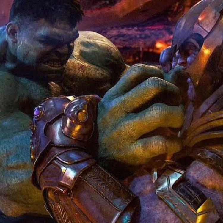 Avengers: Infinity War (2018) saw Thanos decimate Hulk to a pulp.