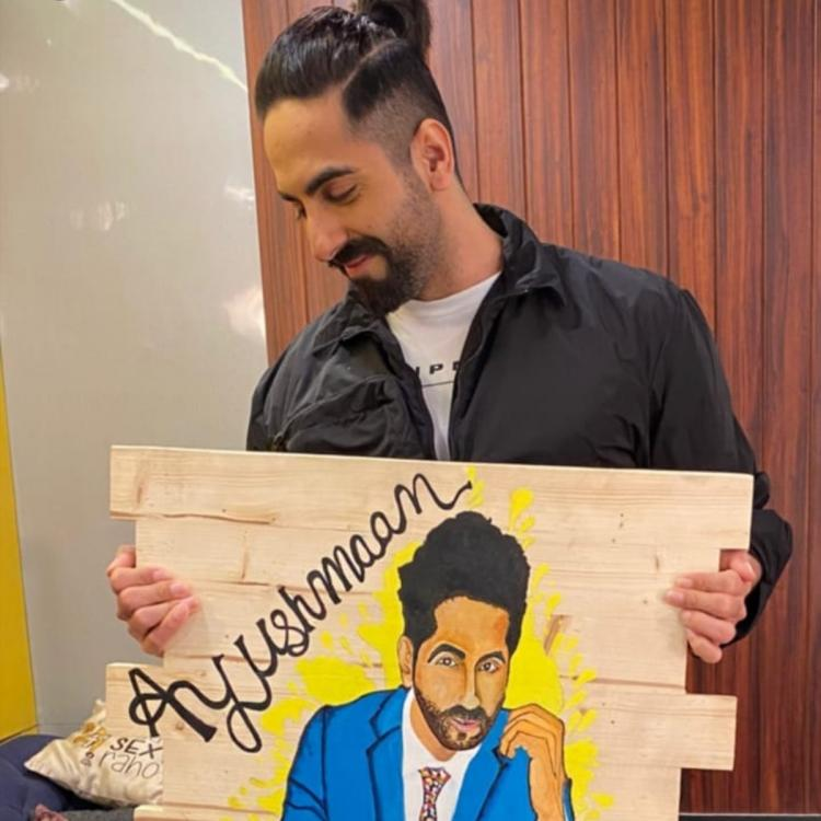 Ayushmann Khurrana sporting a pony, new look for chandigarh kare aashiqui