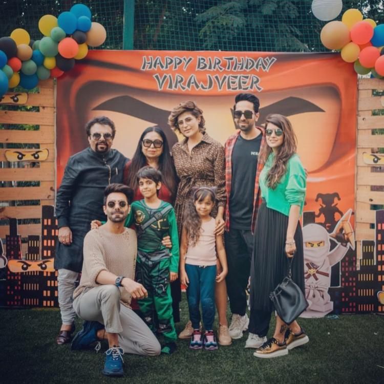 Ayushmann Khurrana, Tahira Kashyap, Aparshakti shell out family goals as they pose for a happy picture