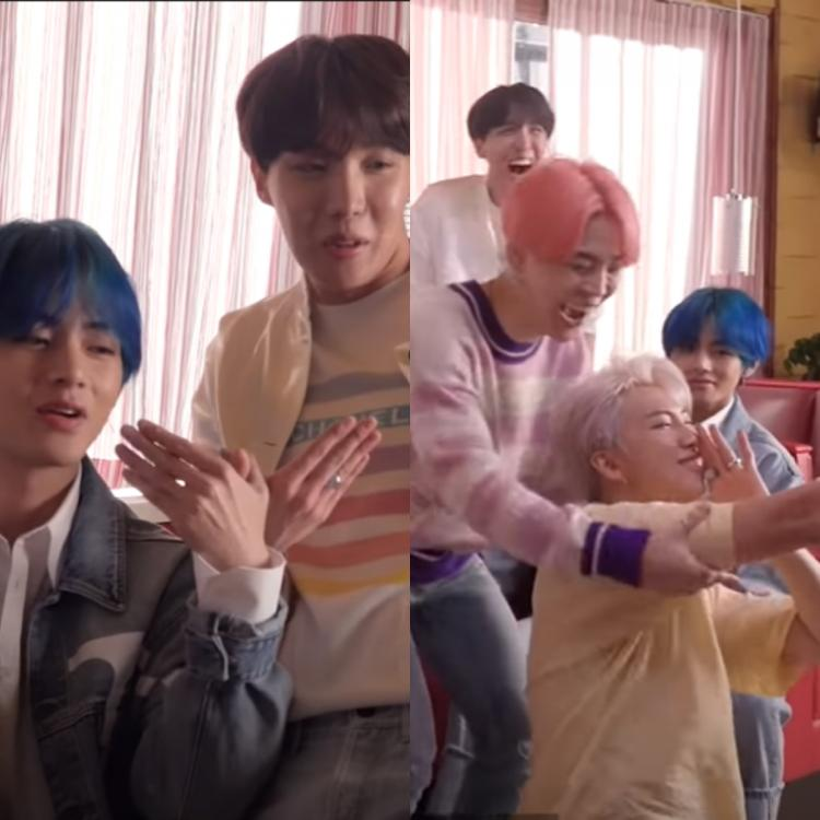 Bangtan Bomb: BTS' V & J Hope don their goofy hats to give us the wing dance; RM trolled on Boy With Luv sets