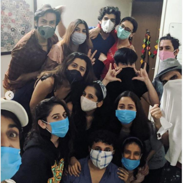 Barun Sobti, Sanaya Irani, Mohit Sehgal and others turn their mask mode on as they celebrate a friend's bday
