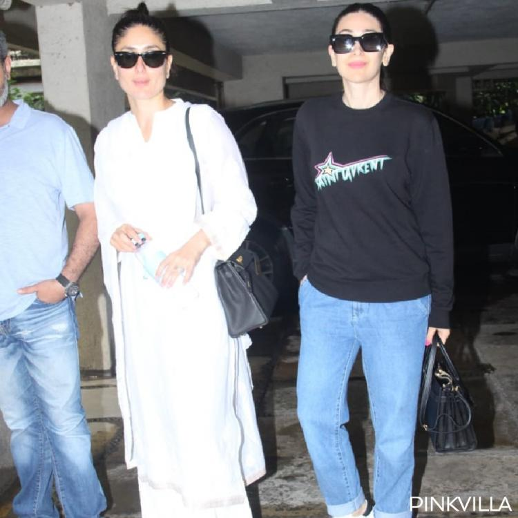 Kareena Kapoor Khan is a vision in white as she gets papped with sister Karisma Kapoor; View Pics