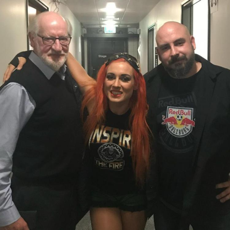 Becky Lynch is heartbroken that her dad could not meet her daughter Roux.