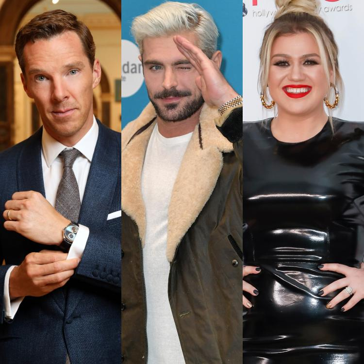 zac efron,Benedict Cumberbatch,kelly clarkson,Hollywood