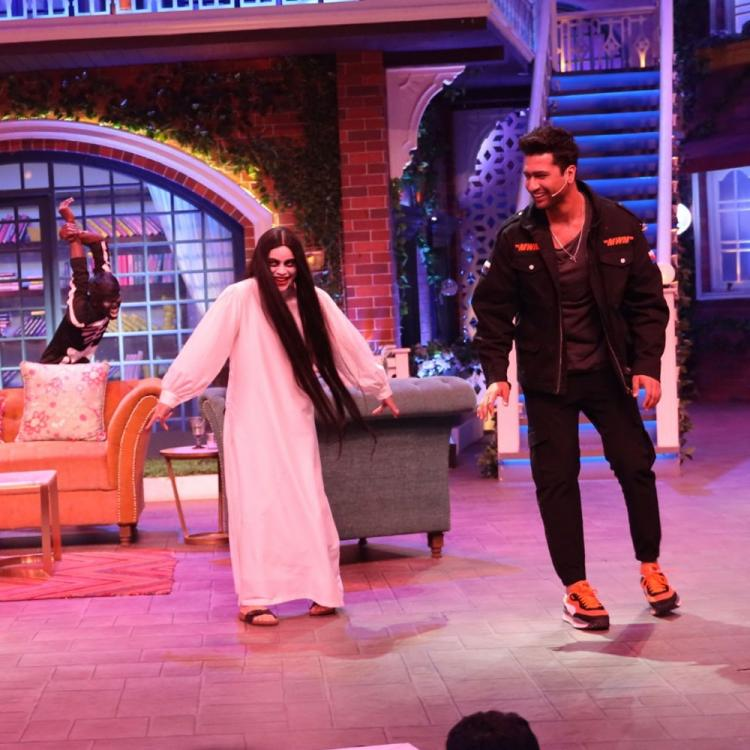 Bhoot actor Vicky Kaushal gets a spooky welcome on The Kapil Sharma Show & it will leave you splits; See Pics