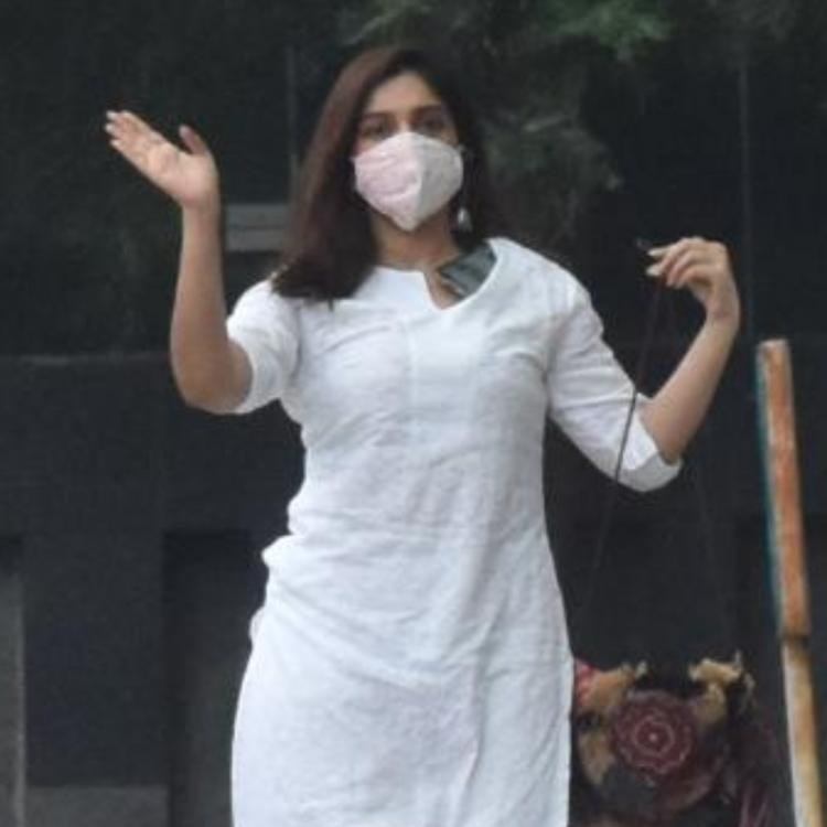 Bhumi Pednekar snapped in white.