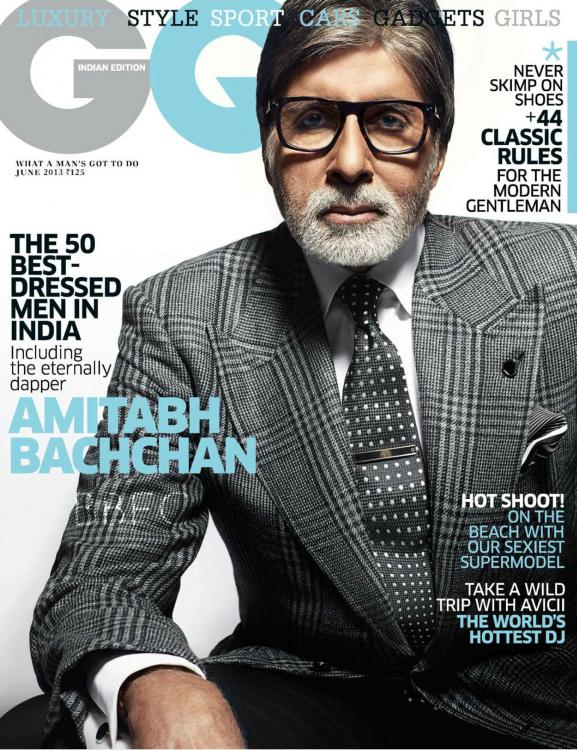 Magazine Covers,Amitabh Bachchan,Big B,Amitab,GQ India