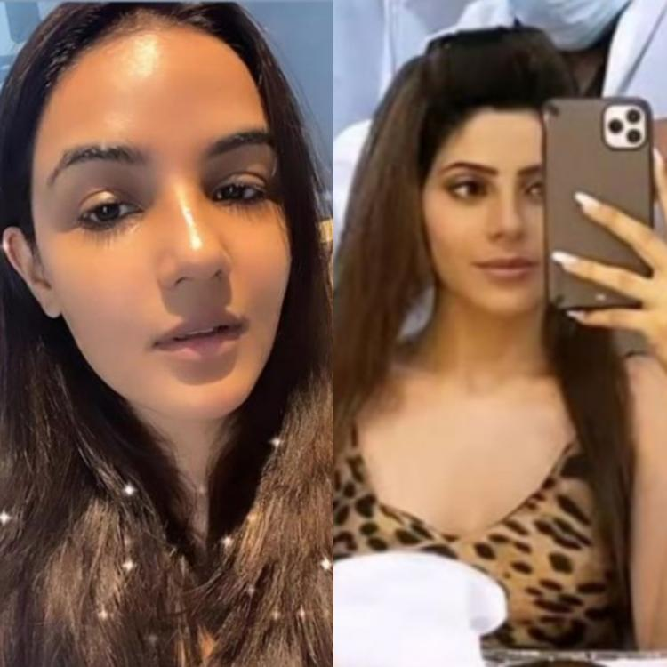 Bigg Boss 14 contestants Jasmin Bhasin and Nikki Tamboli's BTS pictures as they prep up to shoot