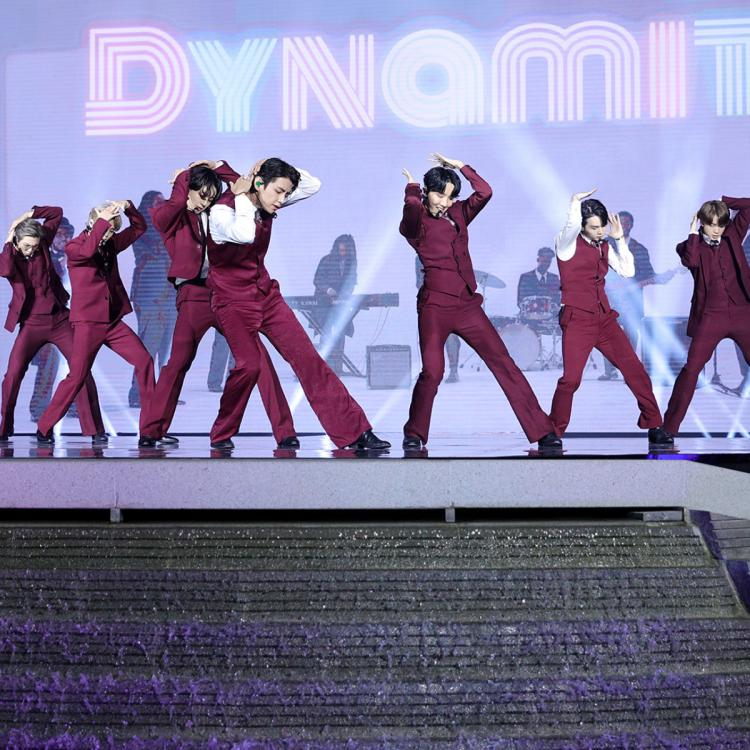BTS performed Dynamite at Incheon Airport during the Billboard Music Awards 2020