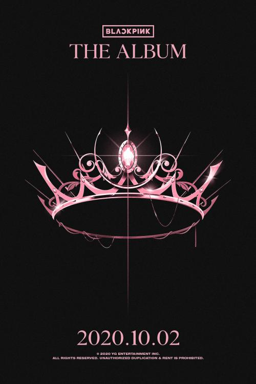 A teaser poster of an intricately crafted pink crown was unveiled for BLACKPINK The Album.