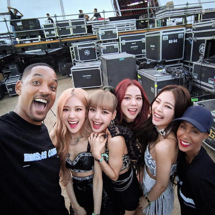 BLACKPINK members with Will Smith