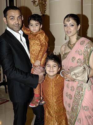 Photos,bobby Deol,tania deol,star kids,star family,star wife
