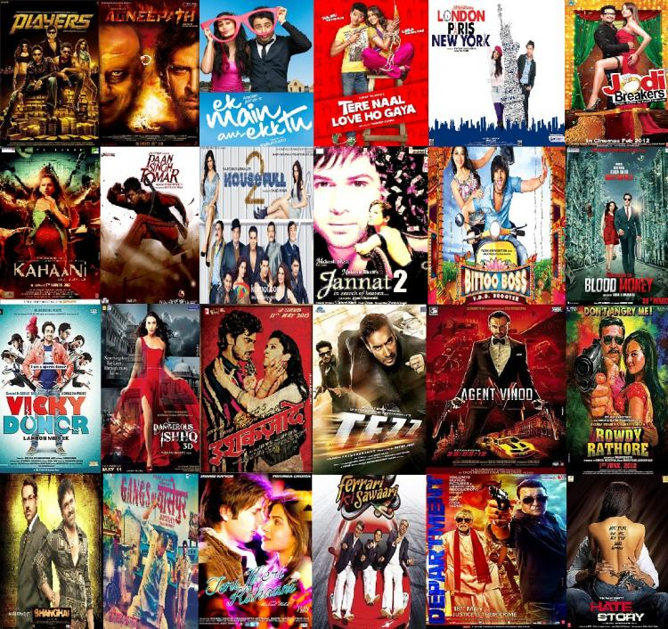 Bollywood movie poster collage