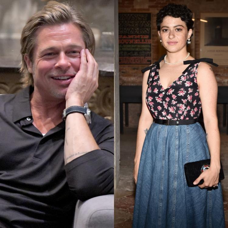 Brad Pitt gives 'just friend' Alia Shawkat tight hug while greeting her at Kanye West's concert; Deets Inside