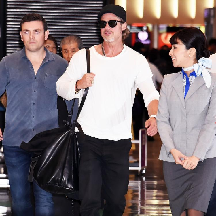 Brad Pitt seen in good spirits at the Tokyo airport after Maddox Jolie Pitt comments about their relationship
