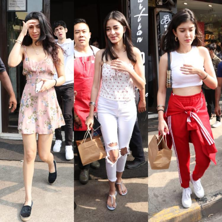 PHOTOS: Ananya Panday, Shanaya Kapoor and Khushi Kapoor step out in style for Sunday lunch
