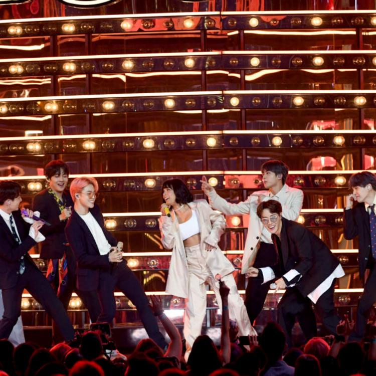 BTS & Halsey's private Boy With Luv performance in their hotel ahead of their Paris concert is UNMISSABLE