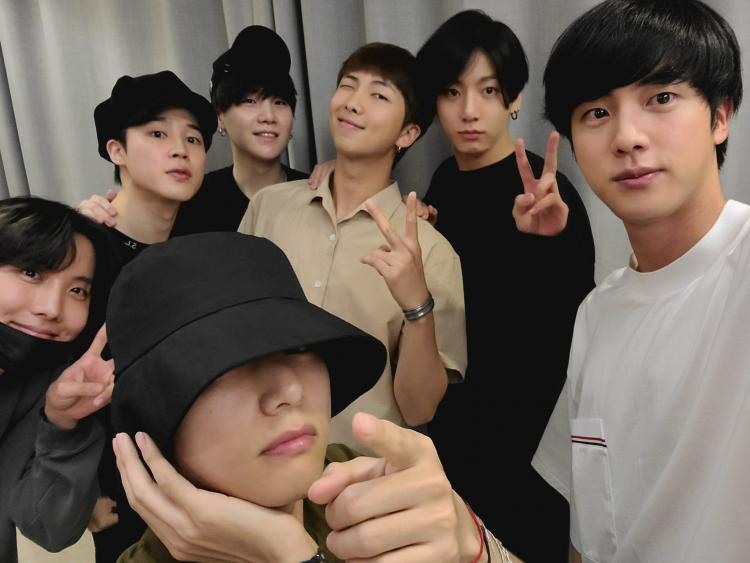 BTS: Post new single announcement; ARMY blessed with OT7 selfie and we  can't get over RM's adorable bowl cut | PINKVILLA