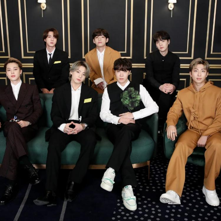 BTS performed Dynamite at the 2021 Grammy Awards