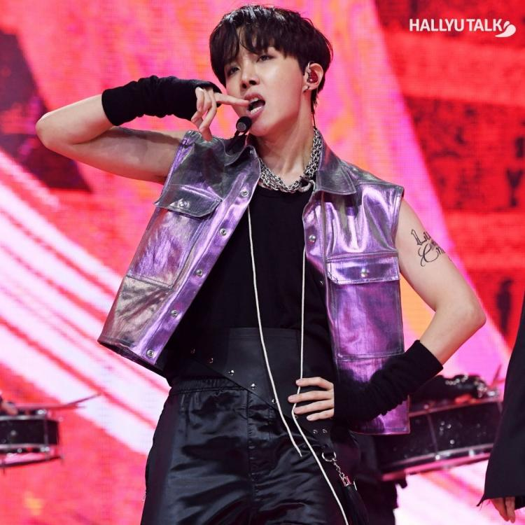 J-Hope performing BTS' powerful song ON at MMA 2020